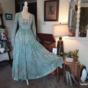 Gunne Sax Style Authentic 70s Prairie Dress